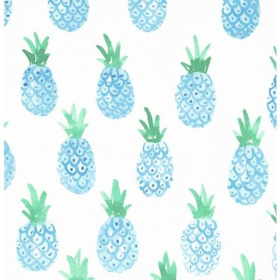blue-pineapple-print