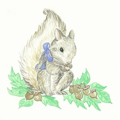 Blue Ribbon Squirrel