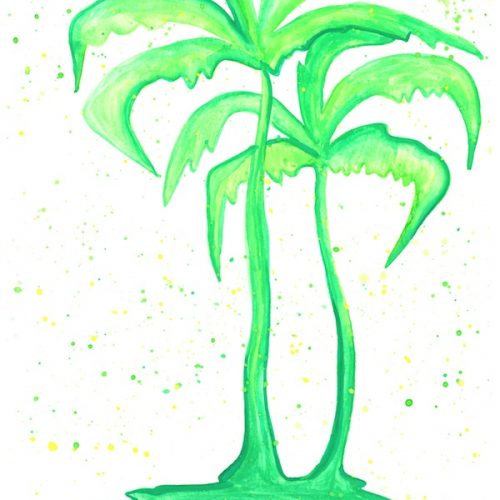 green-palm-trees