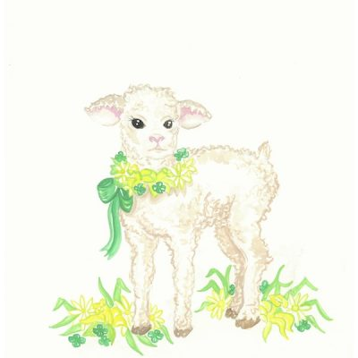 Green and Yellow Wreath Lamb
