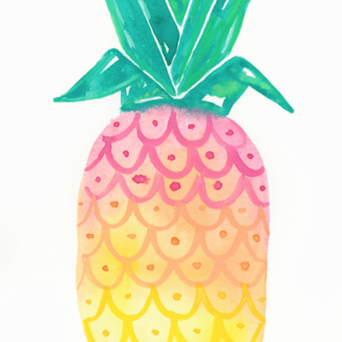 ombre-pineapple