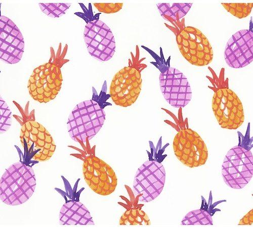orange-and-purple-pineapple-print