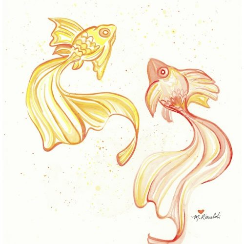 Orange and Yellow Goldfish