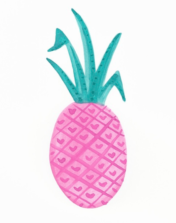 Pink Pineapple Go Coastal