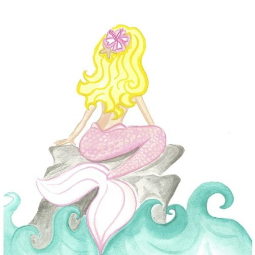 pink-and-aqua-mermaid-on-rock