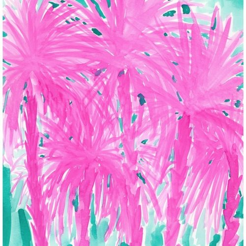 pink-and-aqua-palm-trees