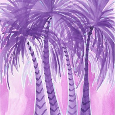 purple-palm-trees