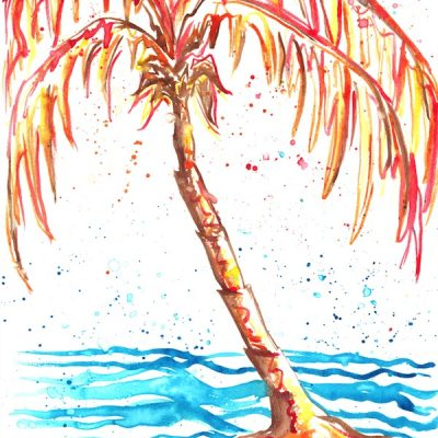 red-and-brown-palm-tree
