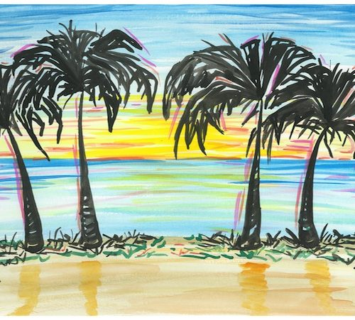 sunset-palm-trees