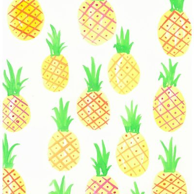 yellow-pineapple-print