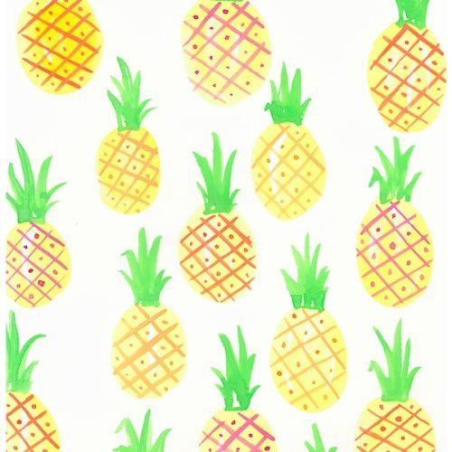 yellow-pineapple-print