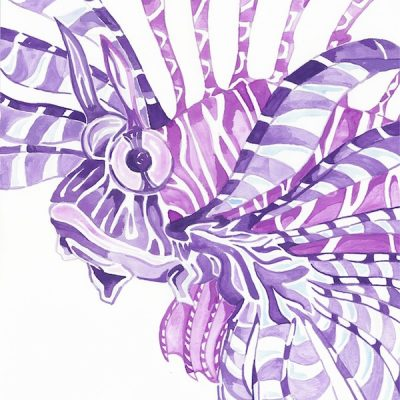 purple lion fish