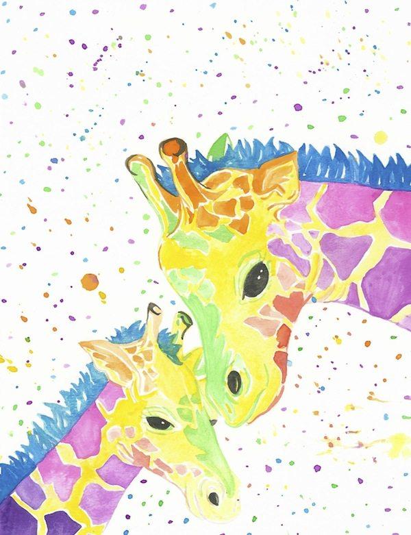 Rainbow Giraffes Go Coastal