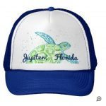 sea turtle blue hat