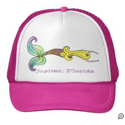 blonde hair pink hat rainbow tail